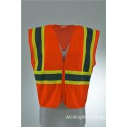 Red Work Wear Hi Viz Executive Safety Waist Vest