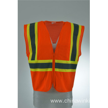 Red Work Wear Hi Viz Executive Safety Waist Vest