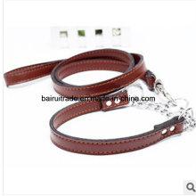 2016 hochwertige Leder Seil Halsband und Leine