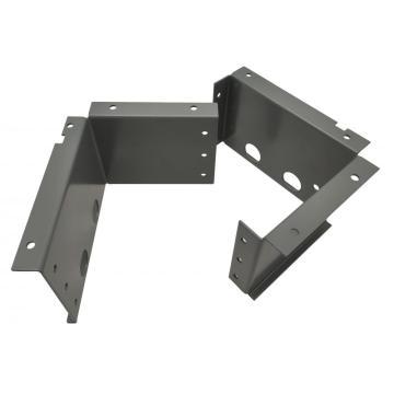 Servicios de mecanizado CNC de marco de chapa con recubrimiento de polvo