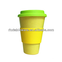 100% eco-friendly bamboo mug with lid