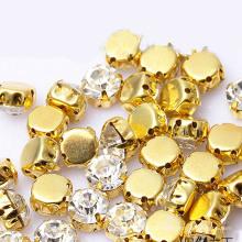 Heißer Verkauf Kristall Strass Glasperle mit Clow nähen Zubehör Großhandel Nähen auf Kristall Perlen für Kleidungsstück Zubehör