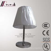 Lámpara de mesa giratoria de acero inoxidable para lámpara de hotel europea