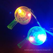 Silbato de luz LED intermitente juguetes electrónicos de silbato para niños