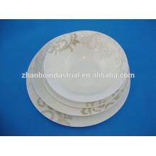 Personalisierte hochwertige leichte neue Knochen Porzellan Platte