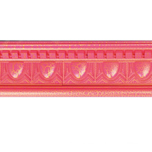 W13cm Pink Artistic Cornice Moulding Building Material