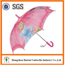 Promotional Waterproof Fabric with Cartoon Character Straight Cheap Kids Umbrella 35cm