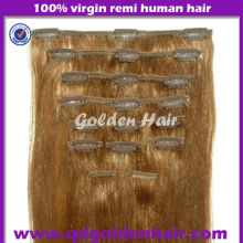 Golden Hair New Products Wholesale Clip Hair Extensions Qingdao Factory