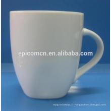 Fabrication de tasses en porcelaine blanche pure en tasse de porcelaine de 12 oz