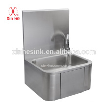 Commercial stainless steel Wall mounted modern design knee operate hand wash basin sanitary for public used