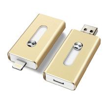 Gold Metal OTG USB Flash 3.0 Laufwerk für iPhone