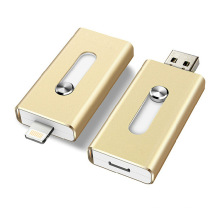 Gold Metal OTG USB Flash Drive 3.0 para iPhone