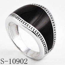 Modelo clássico de moda jóias anel de prata 925