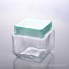 Уникально квадратный конфеты Канистра ж/ крышка из пластика, bpa бесплатно