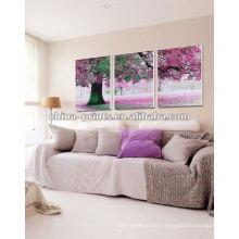 Pintura púrpura del árbol en lona de Polyster