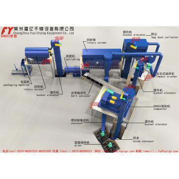 DG350 Kaliumchlorid Double Roller Dünger Granulator
