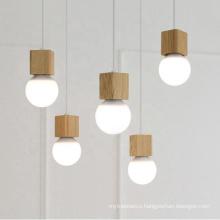 Modern Home Dining Room LED Wooden Pendant Light Hanging Lamp