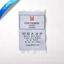Étiquette de cou d'étiquette tissée par vêtement d'approvisionnement sans MOQ