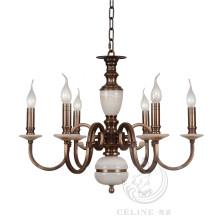 Lustre à marbre, luminaire pendentif en fer doré (SL2260-6)