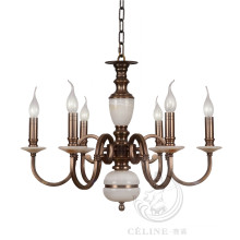 Chandelier with Marble, Golden Iron Pendant Lighting Fixture (SL2260-6)