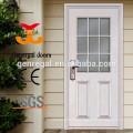 Porta de madeira de cor branca de frente de vidro oval clássico estilo europeu