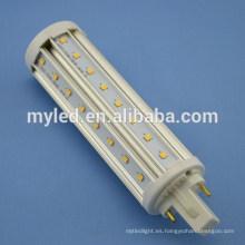 Base opcional G24 2pin / 4pin 10w LED Plug en bombillas SMD2835