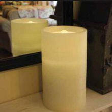 New sage LED candle with water fountain