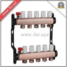 Manifold de água de cobre de qualidade para sistema de aquecimento de piso (YZF-M556)