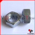 Hex Nuts Blue White Zinc Plated