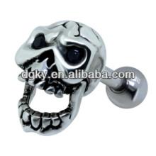 Disco parafuso crânio orelha piercing brinco jóias