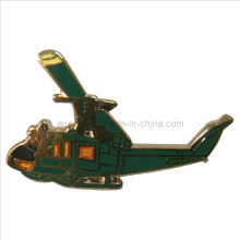 Helicopter Gold Metal Pin Badge in Quick Turnaround Time (badge-093)
