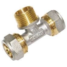 Nickel-Plating Brass Male Tee (a. 0441)