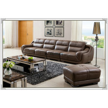 4 Seater Top Grain Leather Sofa Furniture (A849)
