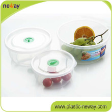 Cheap Custom Plastic Crisper Fresh Round Food Container