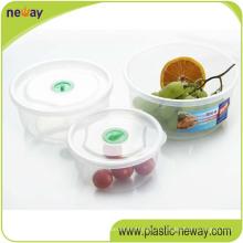 Дешевые Изготовленный На Заказ Пластичные Более Хрустящие Свежие Круглый Контейнер Еды
