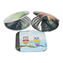 Metal Aluminium Round or Square Compact Pocket Custom Mirror