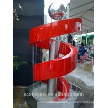 Vente chaude de sculptures en fontaine en acier inoxydable modernes pour la décoration / usine de statues