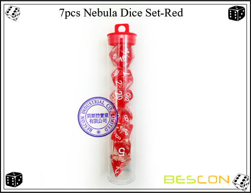 7pcs Nebula Dice Set-Red-4