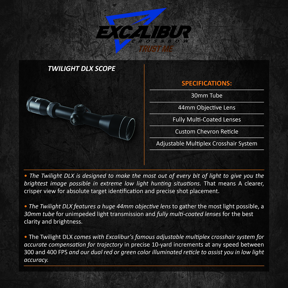 Excalibur_Twilight_DLX_Scope_Product_Description