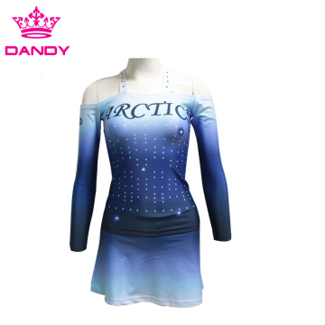 Sublimiertes Ombre Girls Cheerleading Outfit