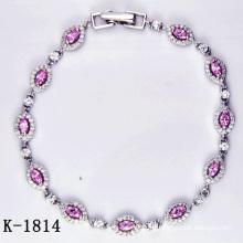 Bijoux brillants à la mode AAA CZ 925 en argent (K-1814. JPG)