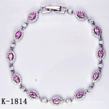 Novos Designs 925 Silver Multicolor Zirconia Bracelets.