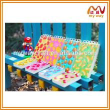 Caderno de espirais de frutas coloridas, bloco de notas em branco de tamanho barato