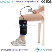 Hot and cold compression calf wrap therapy unit for injuries