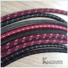 "Abrasive Resistant 3/8"" I.D Nitrile Rubber Cotton Outer Braided Smooth Fuel Petrol Diesel Oil Line Hose"