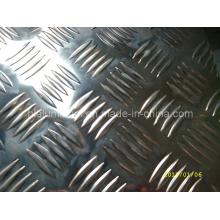 China Hersteller Aluminium Checker Sheet mit 5 Bar Pattern