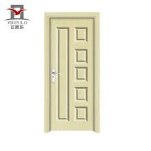 Popular en el mercado de Nepal. Puerta interior de madera compuesta de pvc de alta calidad con nuevo diseño.