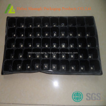 Black color plastic trays for plants