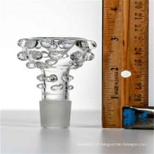 Bol en verre moulé de 14mm pour fumer avec Jonit Jonquet de 14mm (ES-AC-035)