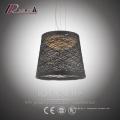 Black Ratan Dining Room Pendant Light Prix favorable